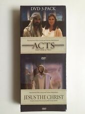 Acts Part 1 & 2 plus Jesus the Christ DVD set in long box - (eb1)