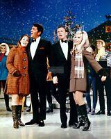 DEAN MARTIN & FRANK SINATRA w/ DAUGHTERS 8X10 CHRISTMAS PUBLICITY PHOTO (EP-149)