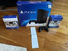 Sony PlayStation 4 pro - 1tb negro consola de juegos Redonditos estado OVP 3 cont