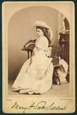 VICTORIAN CABINET PHOTO MARY SCOTT SIDDONS ENGLISH ACTRESS BORN INDIA c1880