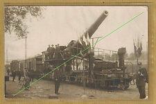 Cpa Carte Photo militaire Livry Gargan canon allemand capturé anglais  m0166