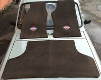 fit for nissan patrol y60 floor and trunk mats carpet brown 1987-1991 3 pieces