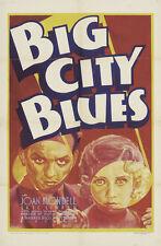 BIG CITY BLUES Movie POSTER 27x40 Joop Admiraal Ren  Deshauteurs David Kropveld