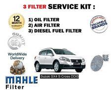 PARA SUZUKI SX4 S CROSS 1.6dt DDiS 2013- > Aire Aceite Gasolina x 3
