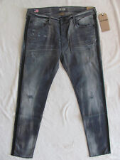 True Religion Rocco Relaxed Skinny Renegade Jeans-Destroyd-Grey-Size 36-NWT $298