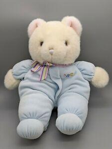 "Vintage Eden ABC Teddy Bear Blue Pastel Pajama Stuffed Soft Animal Plush Toy 12"""