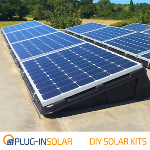 Plug-In Solar Power DIY Kit with Renusol Console+ Tubs (for Ground or Flat Roof)
