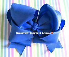 """NEW Jojo Style Bow 6"""" 💙 BellaBow✨School Friendly Jo Jo, Royal Blue"""