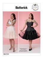 B6530 Sewing Pattern Butterick 6530 Misses' Full Slip Petticoat Pin Up Gertie