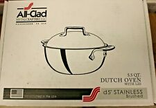 All-Clad D5 Brushed Stainless Steel 5.5 QT Dutch Oven & Lid