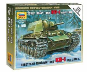 Zvezda Z6141 - 1/100 Soviet KV-1 with L-11 Gun Mod.1940 Heavy Tank