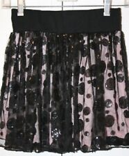 Girl's Black Lace Lined Sequence Skirt Size Medium