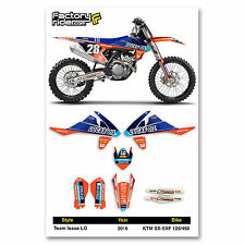 2016 KTM SX-SXF 125/450 Team Issue LO Motocross Graphics Dirt Bike Graphic Decal