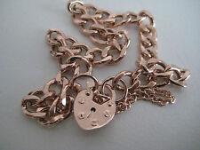 Gold screw charm bracelet 9 carat rose gold screw design heart