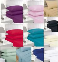 "Extra Deep Fitted Percale 16""/ 40 Cm Duvet Bed Sheets And Luxury Pillow Covers"