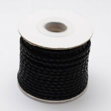 10m/Roll Black Round Braided Cowhide Leather Cord 3MM DIY Craft Jewelry Supplies