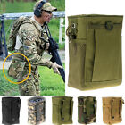 MOLLE Nylon Drop Down Leg Mag Compact Magazine Pouch Holster Bag Army Green New