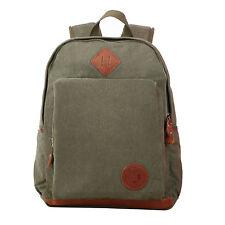Vintage Canvas Leather School Travel Backpack Rucksack 14-inch Laptop Bag