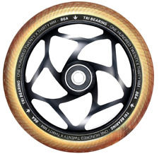 Envy Tri- Bearing Pro Scooter Wheel - 120mm x 30mm - Black/Gold