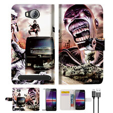 Iron Maiden Wallet TPU Case Cover For HUAWEI Y3 II 2 -- A014