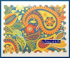PEGATINAS Uñas AGUA CALCOMANÍA - artísticas - Cachemira & papel - Multicolor
