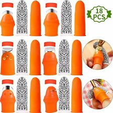 6 Sets Fruit Vegetable Picker Thumb Knife Silicone Thumb Cutter Gardening Tools