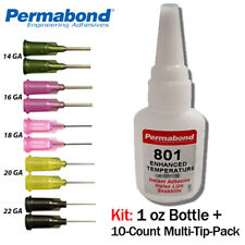 1oz 10-pack Permabond 737 Black Magic Toughened Flexible Temp-resistant Gel