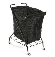 Urbanity Colarado portable mobile rolling salon spar towel basket laundry cart