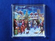 CHRISTMAS MARKET FRIDGE MAGNET (KW)