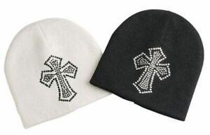 Winter Beanie Hat Rhinestone Cross Beanie Hat Winter Ski Hat Beanie Ski Hat
