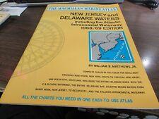 MACMILLAN MARINE ATLAS - NEW JERSEY & DELAWARE WATERS  - 1968 / 69 EDITION