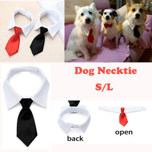 Grooming Tuxedo Bow Ties Dog Necktie Pet Accessories White Collar Formal Tie