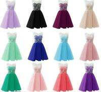 Short Formal Lace Wedding Party Prom Dress Bridesmaid Evening Cocktail Dresses