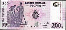 Congo 200 Francs, 2007, RADAR 1177711 , Unc, P-99