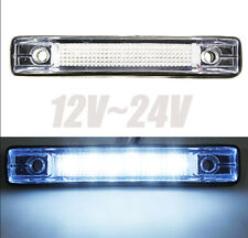 6 LED White Clearance Side Marker Light Indicator Lamp Truck Trailer Pickup