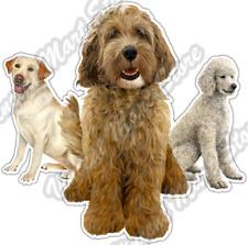 "Labradoodle Labrador Dog Dogs Pet Breed Car Bumper Vinyl Sticker Decal 4.6"""