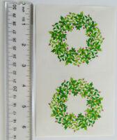 Mrs Grossman WINTER WREATH Reflections Strip of Vintage Wreath Stickers