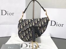 Saddle bag in blue Dior Oblique jacquard canvas, calfskin leather