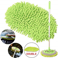 2-in-1 Car Wash Mop Mitt with Long Handle, Chenille Microfiber Car Wash Dust for