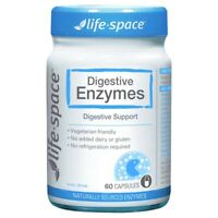 Life-Space Digestive Enzymes 60 Vege Capsules Healthy Digestive Function