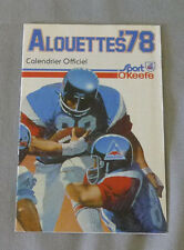 Original  CFL  Montreal Alouettes 1978 Official O'Keefe Football Schedule