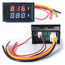 DC 0-100V 10A Digitale LED Dual Voltmetro Amperometro Misuratore Tensione TE192