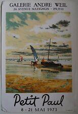 Affiche PETIT PAUL 1971 Exposition Galerie André Weil
