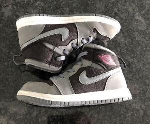 Nike Air Jordan 1 Mid (TD)  Grey Black Toddler Size 10c