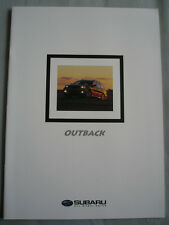 Subaru Outback range brochure 1999 New Zealand market