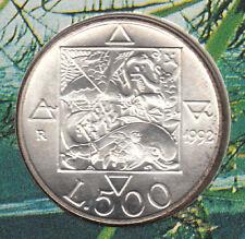 ITALIA LIRE 500 Ag. 1992 FDC  UNC FLORA E FAUNA 2° EMISSIONE  VOLTO DONNA