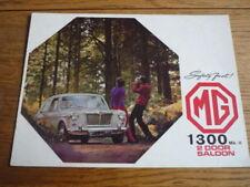 FOLLETO de coche mg 1300 MK II