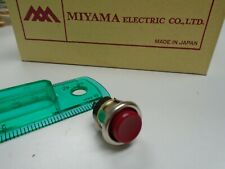 Momentary Red Push Button Bell Control 58 Inch Hole Miyama Electric Japan Ds131