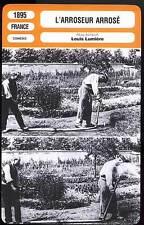 L'ARROSEUR ARROSE - Lumière (Fiche Cinéma) 1895 - Tables Turned on the Gardener
