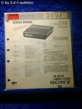 Sony Service Manual D T3 / T30 CD Player  (#2615)